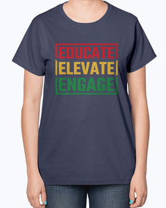 Educate Elevate Engage T-Shirt, Portland Thorns FC - Brixtee