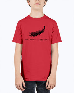 Crocodile Fuck Around And Find Out T-Shirt - Brixtee
