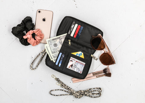 Jacqui Cell Phone Wallet With a Recycled Interior Liner