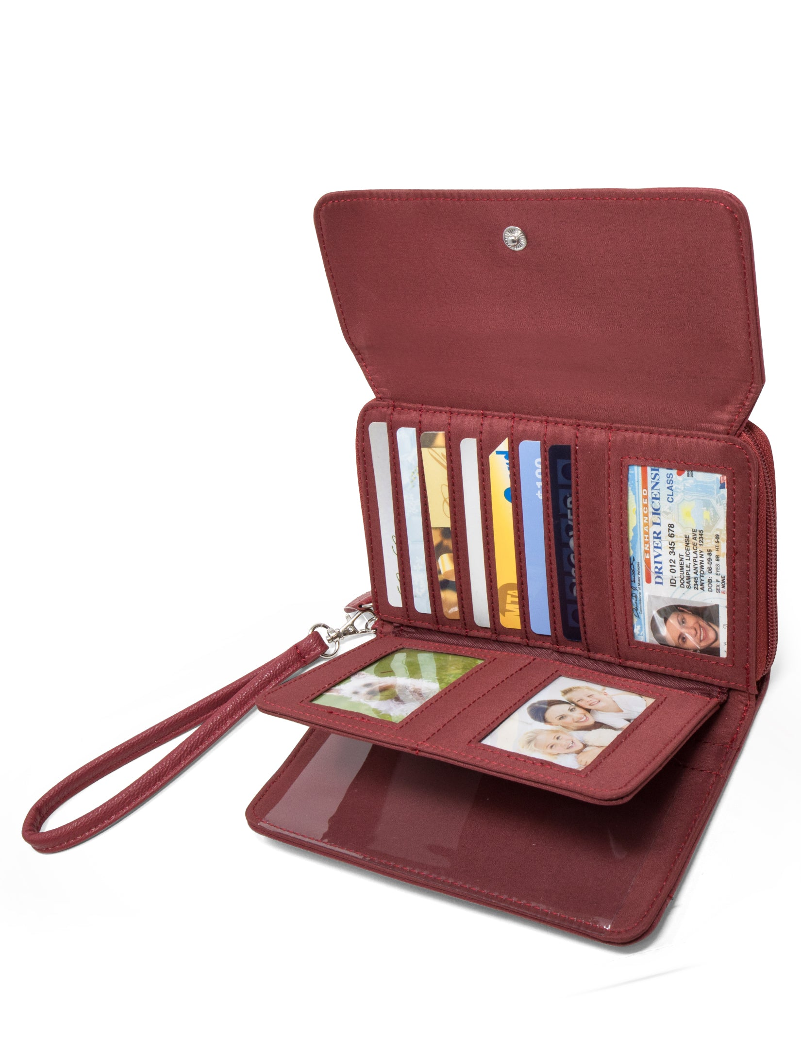 My Big Fat Wallet - Mundi Wallets - Women's Wallet - Organizer Wallet - RFID Protected - Red - Wristlet