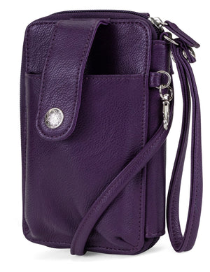Jacqui Crossbody Cell Phone Wallet - Mundi Wallets - Women's Wallet