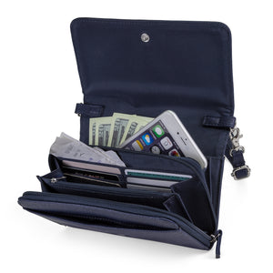 Katie RFID Protected Women's Crossbody Bag  - Organizer Wallet - Navy