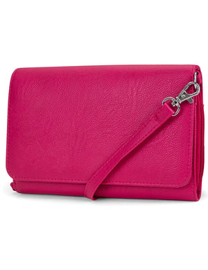 Katie RFID Protected Women's Crossbody Bag  - Pink - Organizer Wallet