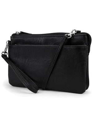 Mundi Brady Anti Theft Womens Cell Phone Crossbody Bag RFID Purse Wallet (Black)