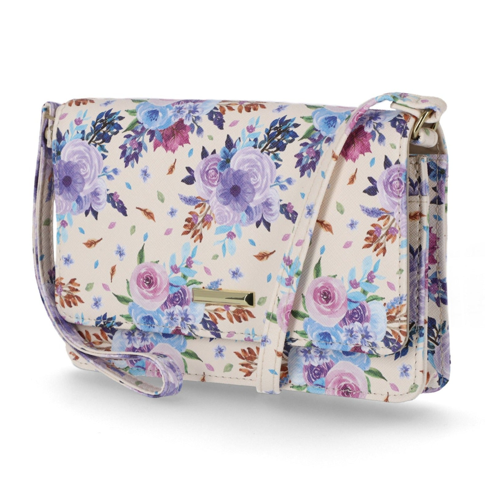 Mundi Wallets - Kimberly Crossbody Bag - Clutch Wallet - Organizer Wallet - Women's Crossbody Bags and Wallets - RFID Protected - Multiple Compartments and Pockets - Small Crossbody Bag - Floral