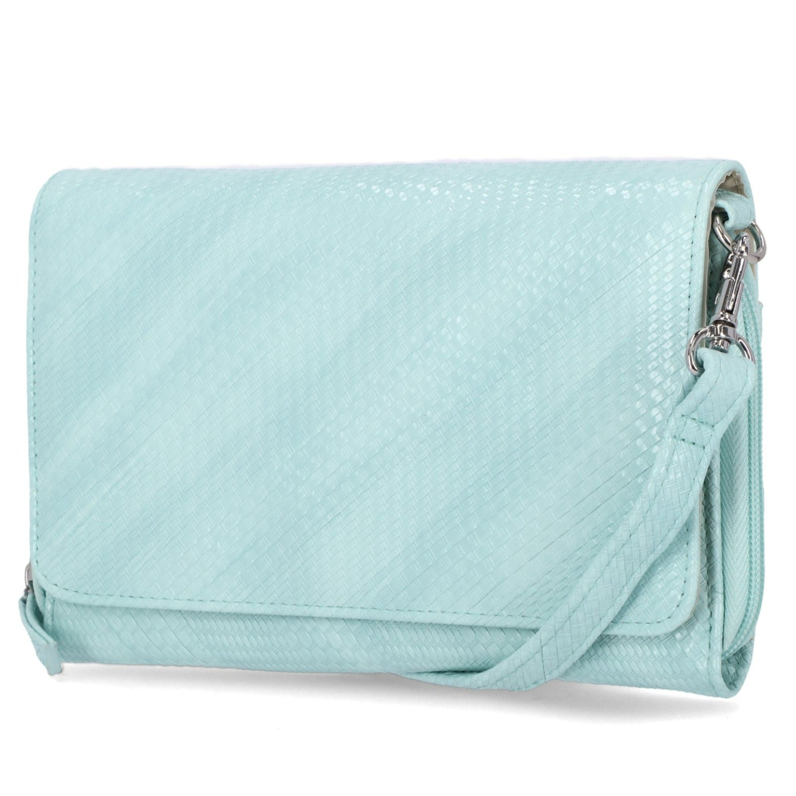 Katie RFID Protected Women's Crossbody Bag - Organizer Wallet - Aqua