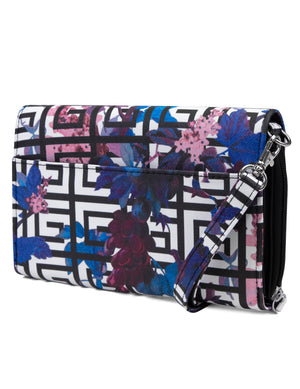 Katie RFID Protected Women's Crossbody Bag  - Organizer Wallet - Maze Floral