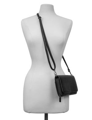 Katie RFID Protected Women's Crossbody Bag  - Organizer Wallet - Black