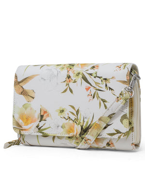 Katie RFID Protected Women's Crossbody Bag  - Organizer Wallet - Floral Excess
