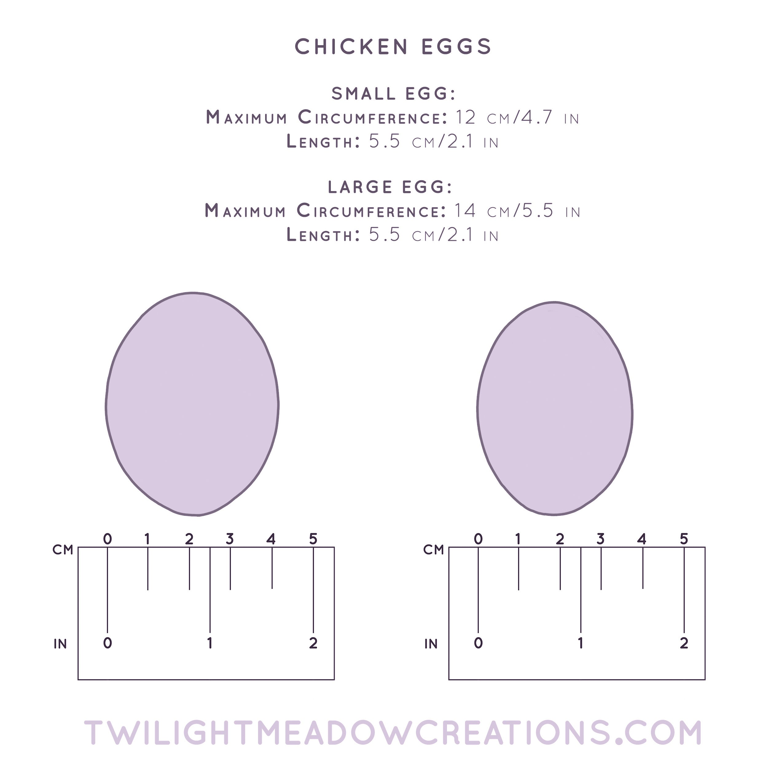 Large Chicken Egg (Firmness: Soft) - Twilight Meadow Creations