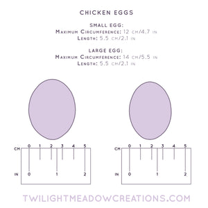 Large Chicken Egg (Firmness: Medium) - Twilight Meadow Creations