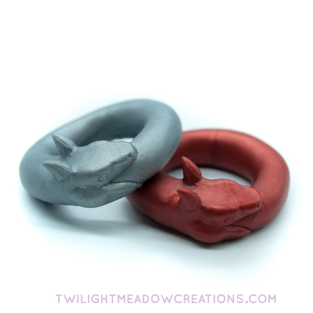 Ouroboros C-Ring - Twilight Meadow Creations