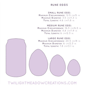 Small Rune Egg (Firmness: Firm) - Twilight Meadow Creations