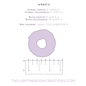 Wreath C-Ring - Twilight Meadow Creations