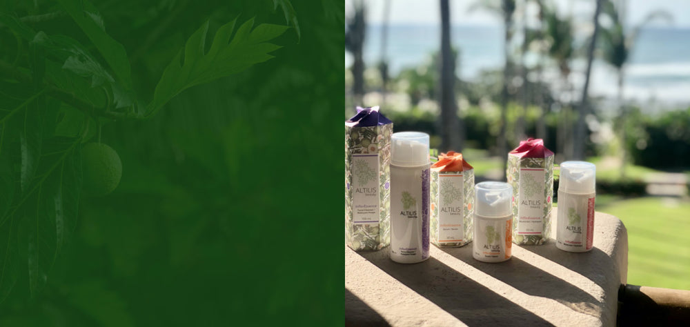 Beauty Products Range made from breadfruit by Altilis Beauty