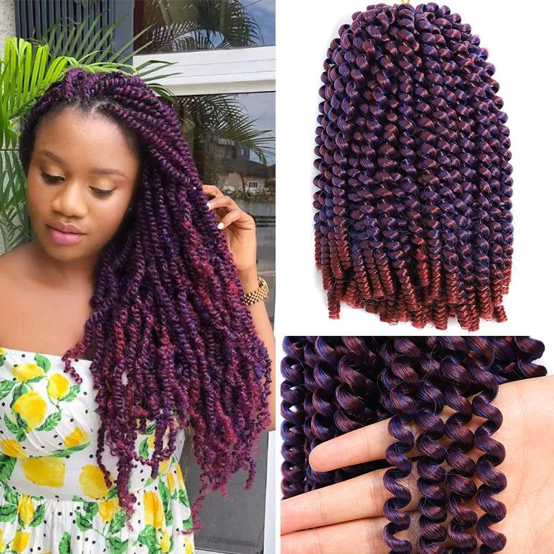 2020 Super Natural Hand Braided Wig Hair Most Realistic Ombre Box Braid Wig