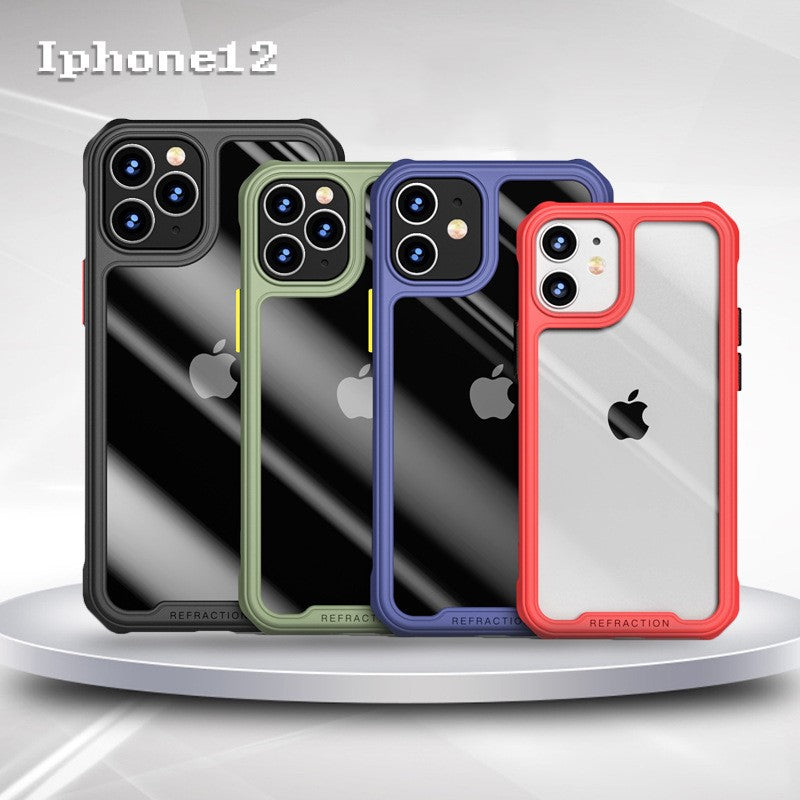 iPhone 12 mobile phone case all-inclusive soft edges and four corners