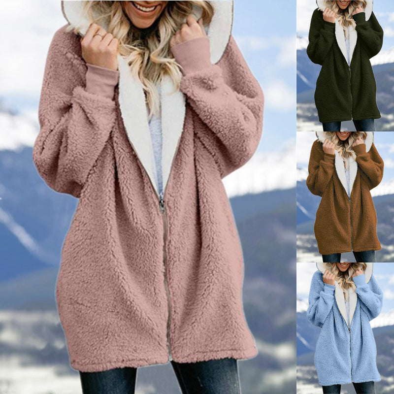🎅🤶Christmas Promotion💥Autumn and winter lamb wool zipper warm jacket