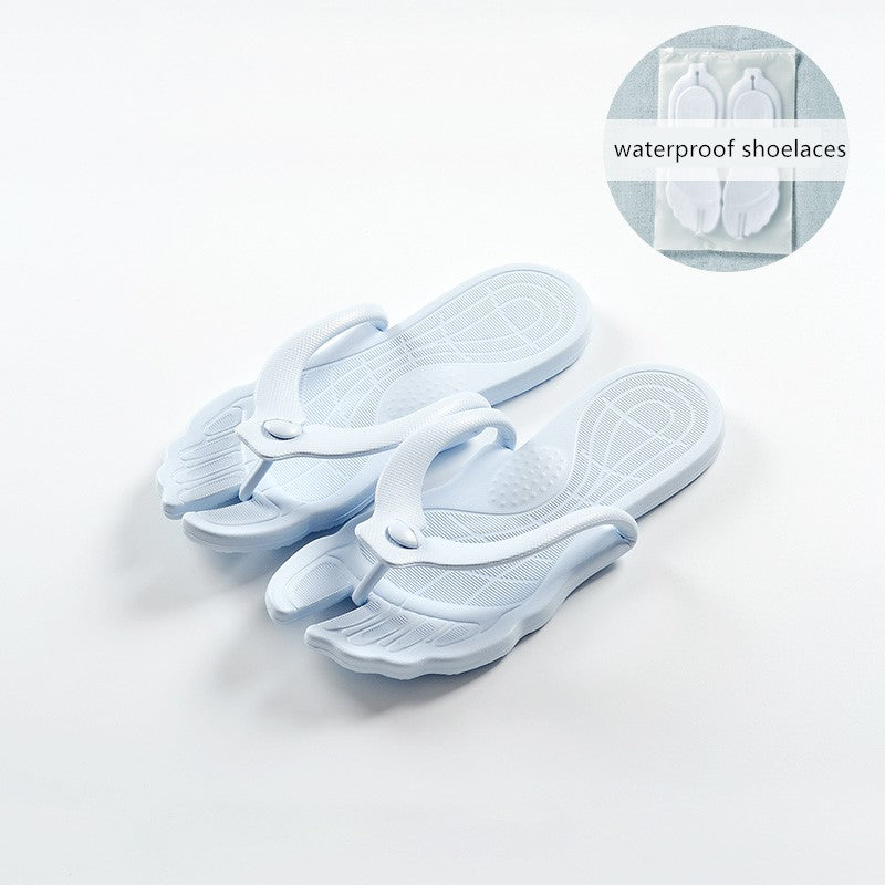 Removable travel slippers and portable non-slip sandals and slippers