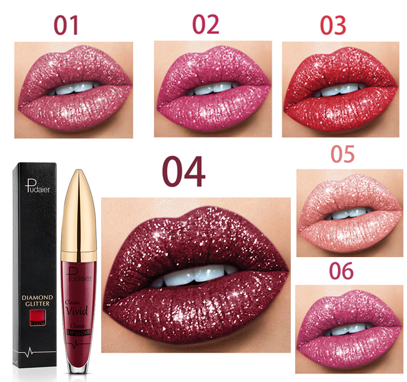 💥BUY 2 GET 1 FREE💥3 Items Only $25.96—18 Color Diamond Shiny Long Lasting Lipstick😘