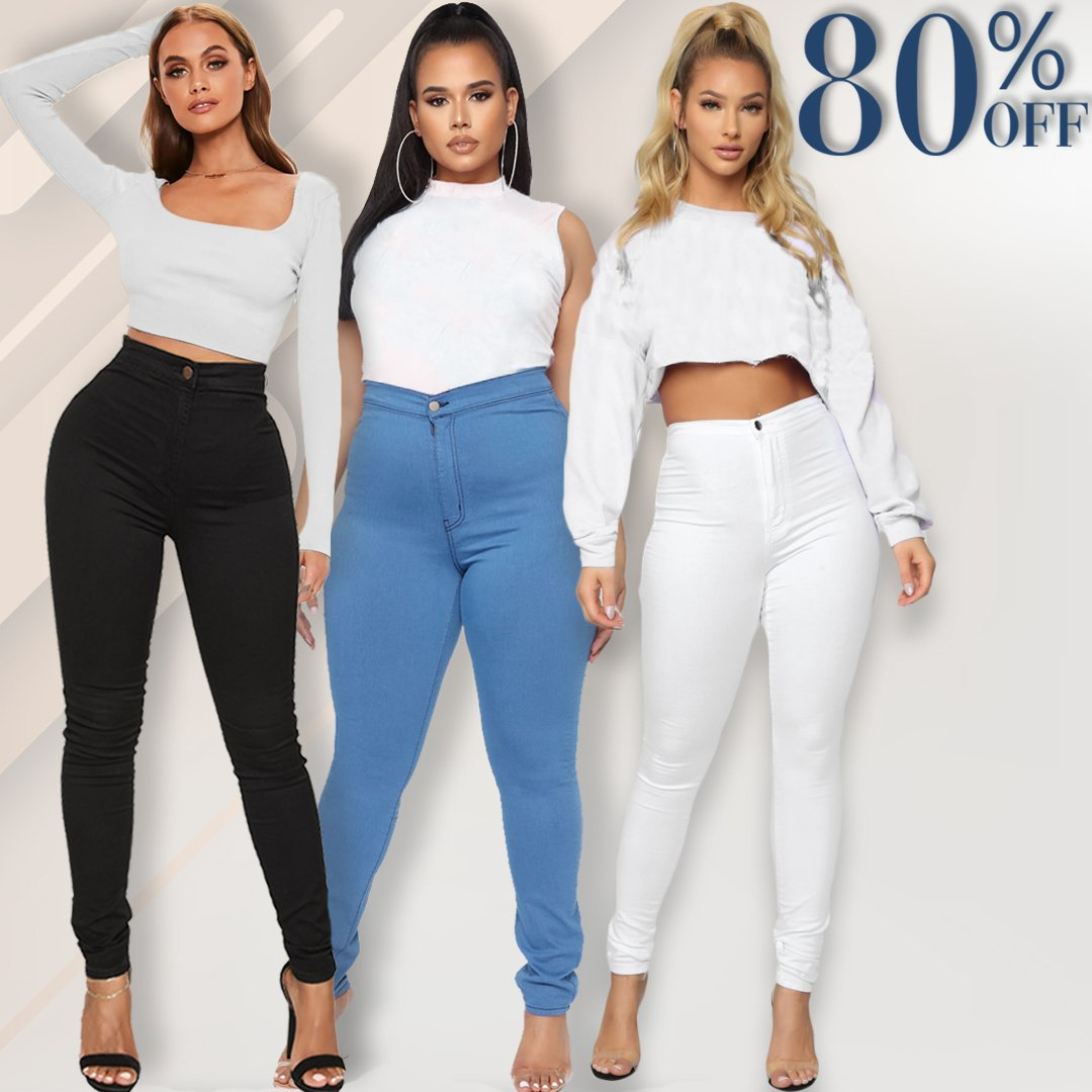 💥BUY 2 GET 1 FREE💥Luxe Stretch High Waist Tummy Booty Slimming Butt Lift Plus-Size Denim Jeans