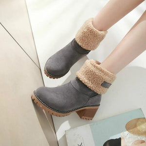 Fleece Fold-Down Boots