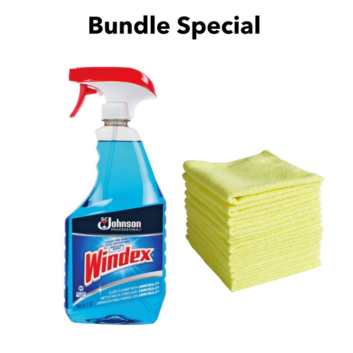 Windex Glass And Multi Surface Cleaner Microfiber Cleaning Cloth Bu Cleaning Home Supply