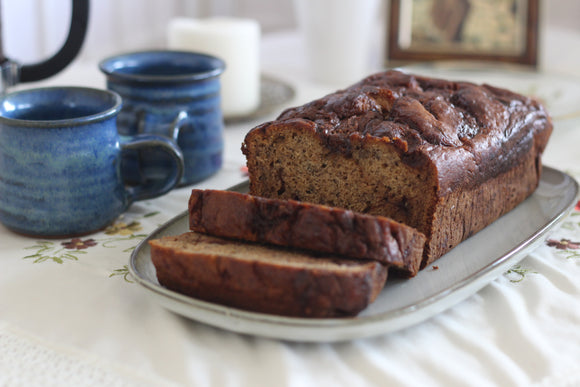 Brown Butter & Nutella Banana Bread