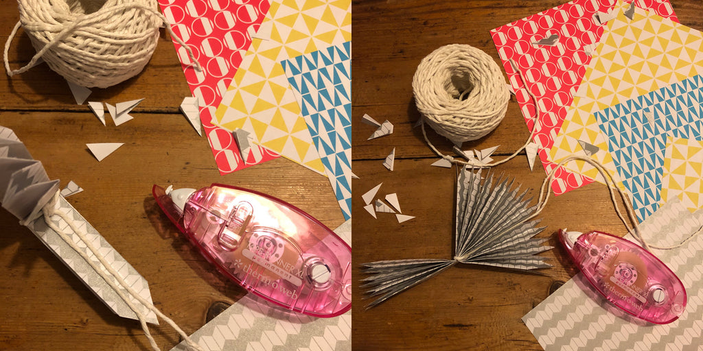 Osity patterned paper origami star tutorial - stick the edges together to make your star