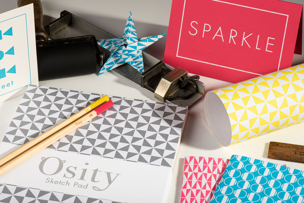 Osity products along with some of the inspiration from the print workshop