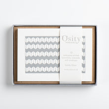 Load image into Gallery viewer, 12 LuminOsity Letterpress Notecards, Subtle Silver