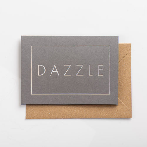 Dazzle Card, Silver on Subtle Silver