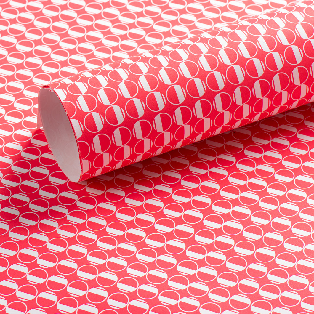 Eau Patterned Paper, Hot Pink