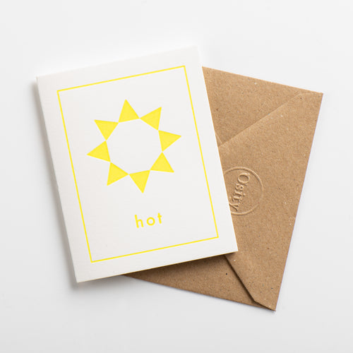 Hot Small Card, Luminous Yellow