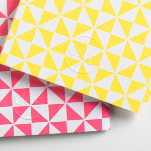 Pack of Two Windmill Pocketbooks, Luminous Yellow and Hot Pink