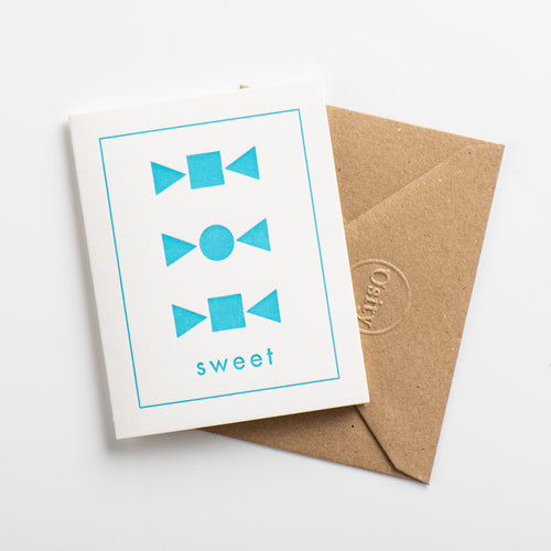Sweet Small Card, Swimming Pool Blue
