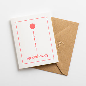 Up and Away Small Card, Hot Pink