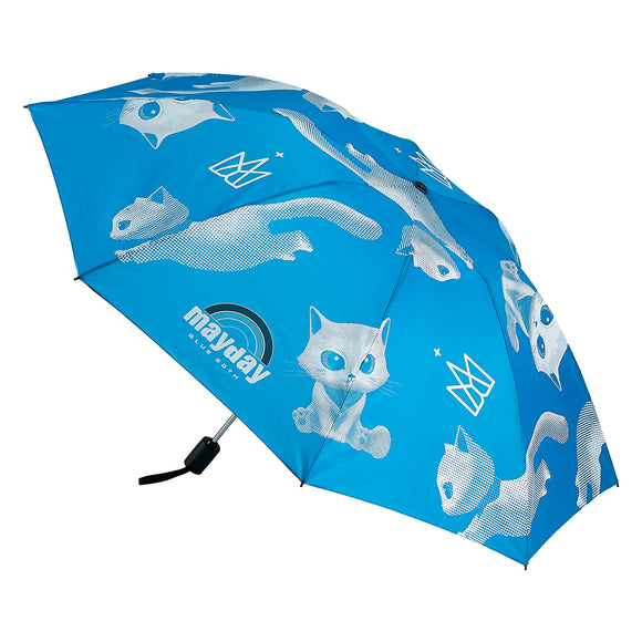 Mayday Just Rock It BLUE - Automatic Folding Umbrella