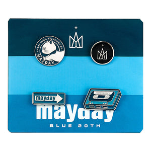 Mayday Just Rock It BLUE - Metal Badge Set