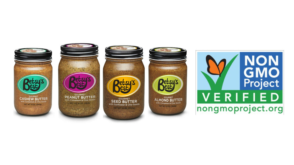 Betsy's Best Gourmet Nut and Seed Butters are NonGMO Project Verified