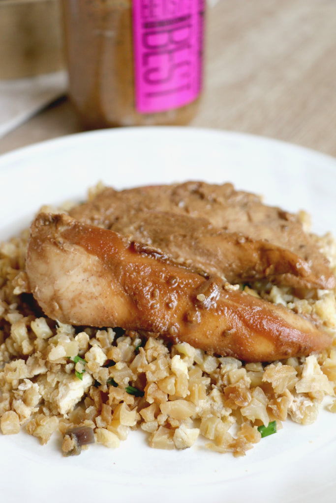 Chicken teriyaki made using Betsy's Best Gourmet Peanut Butter