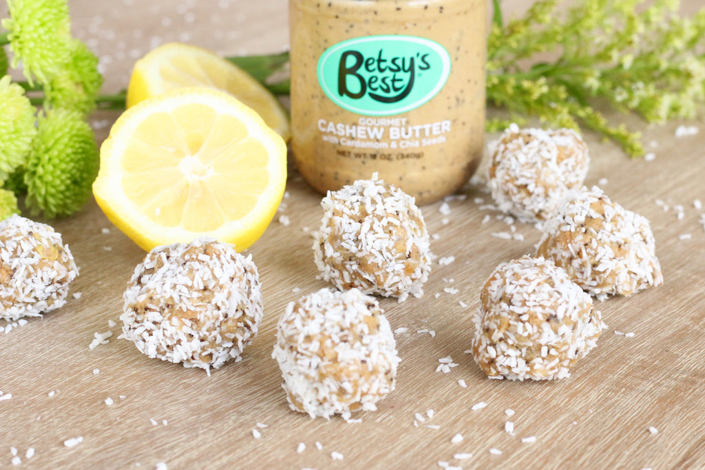 Cashew Butter Lemon Coconut Energy Bites Recipe