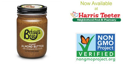 Betsy's Best Gourmet Almond Butter is now available at Harris Teeter