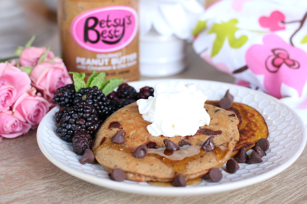 Dairy-free and gluten-free peanut butter pancakes