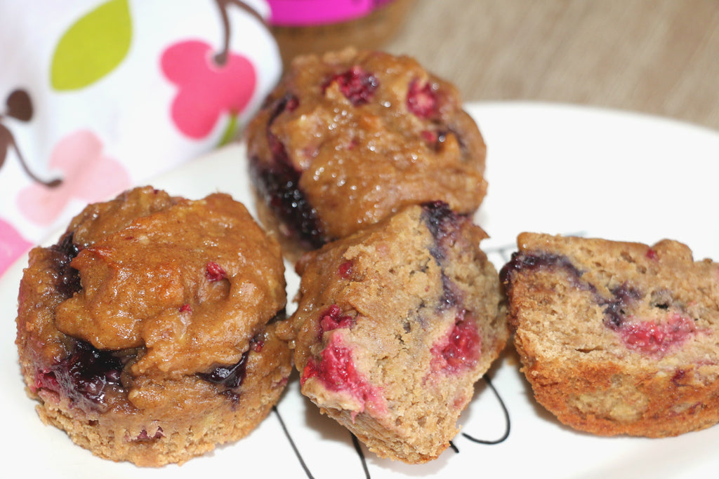 Peanut Butter and Jelly Muffins made with Betsy's Best