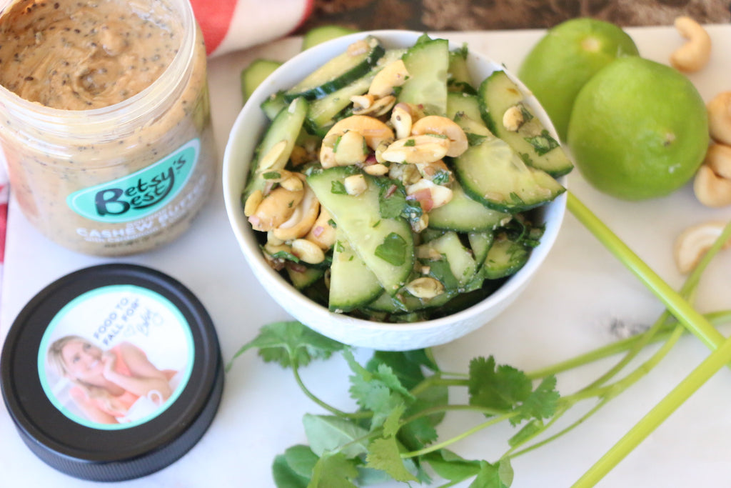 Thai Cucumber Salad with Cashew Butter