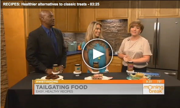 Betsy's Best on the WBTV Morning Break with healthy tailgate recipe ideas.