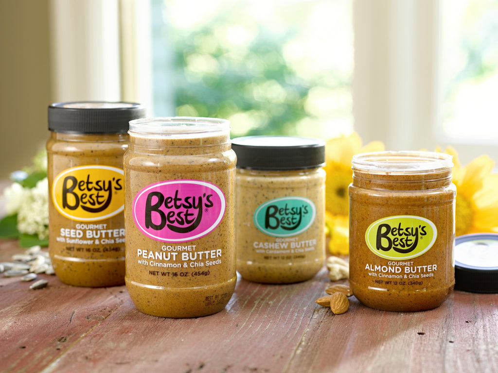 Betsy's Best Gourmet Nut and Seed Butters are loaded with key nutrients