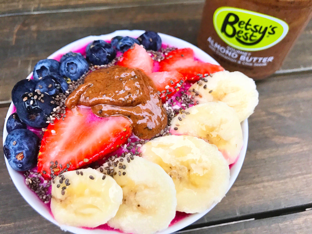 Almond Butter Acai Berry Bowl Recipe with Betsy's Best