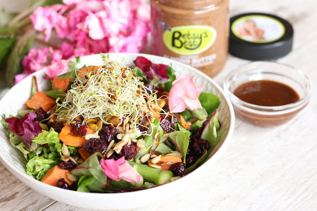 a recipe for an almond butter and fig dressing